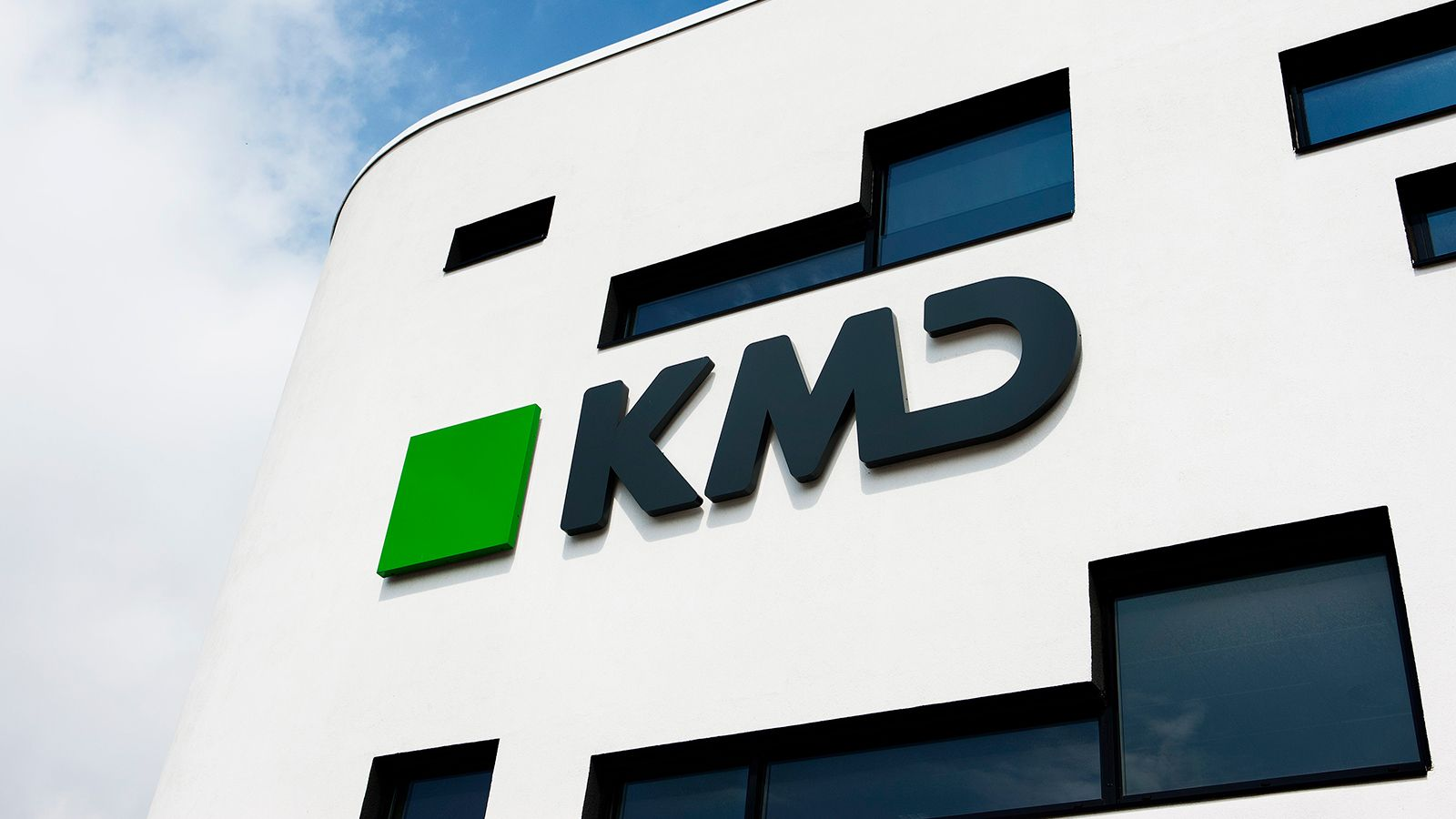 KMD logo on office building